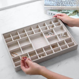 Stackers Supersize Jewellery Box Tray 41 Compartment - Taupe