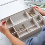 Stackers Supersize Jewellery Box Tray 11 Compartment - Taupe