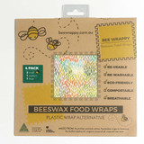 Bee Wrappy Beeswax Food Wraps 4 Pack - Assorted
