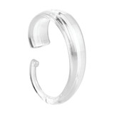 iDesign C Hook Shower Curtain Rings Set of 12 - Clear
