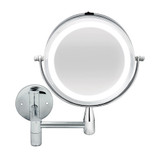Double Sided Extendable Wall Mounted LED Mirror 2x Magnification