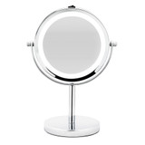 Double Sided LED Pedestal Mirror 5x Magnification