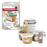 Erasable Food Container Labels with Pen & Eraser