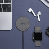 Moon Wireless Charging Pad - Black Fabric