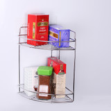 White Magic Stainless Steel i-Hook Double Corner Shelf