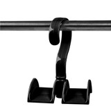Hanging Wardrobe Handbag Hook Set of 2 - Black