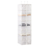 Howards 8 Compartment Hanging Garment Organiser - Clear