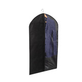 Howards Single Suit Bag with Clear Panel - Black
