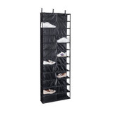 Howards Over-Door Shelf Shoe Holder 24 Pocket - Black