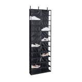 Howards Over-Door Shelf Shoe Holder 24 Pocket - Black