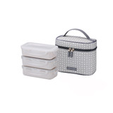 Lock & Lock 3 Piece Lunch Set with Insulated Bag - Clover Grey