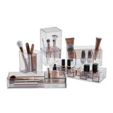 Signature Collection 6 Compartment Makeup Organiser - Bronze/Rose Gold