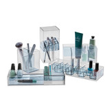 Signature Collection 3 Compartment Makeup Organiser - Grey/Silver