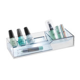 Signature Collection 3 Piece Makeup Organiser - Grey/Silver