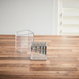 Signature Collection Makeup Brush Holder -Grey/Silver