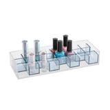 Signature Collection 24 Compartment Lipstick & Accessories Organiser - Grey/Silver