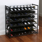 48 Bottle Stackable Wine Rack - Black