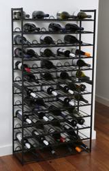 48 Bottle Stackable Wine Rack - Black