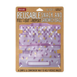 Russbe Reusable Snack & Sandwich Bags Set of 4 - Metallic Confetti