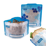 Russbe Reusable Snack & Sandwich Bags Set of 4 - Blueberry Linen