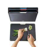 Joseph Joseph Stainless Steel Folio Chopping Board Set - Carbon Black