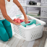 Sterilite Divided Laundry Basket 78L