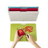 Joseph Joseph Folio 4 Piece Large Chopping Board Set - Silver
