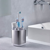 Joseph Joseph Stainless Steel EasyStore Toothbrush Holder - Silver