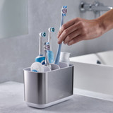 Joseph Joseph Stainless Steel EasyStore Toothbrush Holder Large - Silver