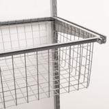 elfa 40 Gliding Wire Drawer W449mm x H185mm - Platinum