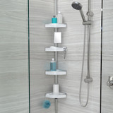 Better Living 4 Tier Tension Shower Caddy - White