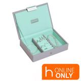 Stackers Mini Jewellery Box with Lid - Grey