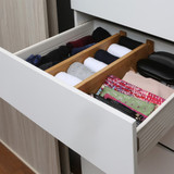 Bamboo Drawer Dividers 2 Pack - Deep