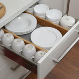 Bamboo Drawer Dividers 2 Pack - Shallow