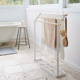 Freestanding Towel Rack - White