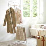 Tower 2 Tier Coat Rack - White