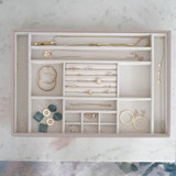 Stackers Supersize Jewellery Box Tray 16 Compartment - Taupe
