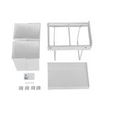 Howards 2 x 20L Twin Pull-Out Bin - White