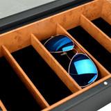 5 Compartment Sunglasses Box & Jewellery Organiser - Black