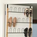 Bamboo & Wire Over the Door Shoe Rack - Black