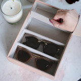 Stackers Classic Sunglasses & Jewellery Box Tray 4 Compartments - Blush