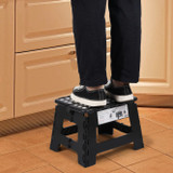 Urburn Folding Black Step Stool - Small