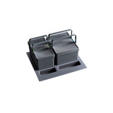 Howards Dual Compartment In-Drawer Recycle Bin