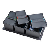 Howards Triple Compartment In-Drawer Recycle Bin