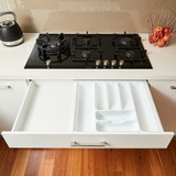 Howards 7 Compartment Cutlery Tray 53cm - White