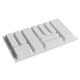 Howards 10 Compartment Cutlery Tray 83cm - White