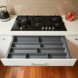 Howards 4 Compartment Cutlery Tray 85cm - Grey