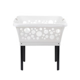 White Magic Laundry Basket with Legs