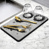 madesmart Grey Drying Stone Dish Drying Mat