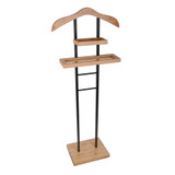 SUIT VALET STAND BLK/BAMB